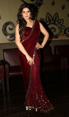 zarine-khan-in-saree-pics