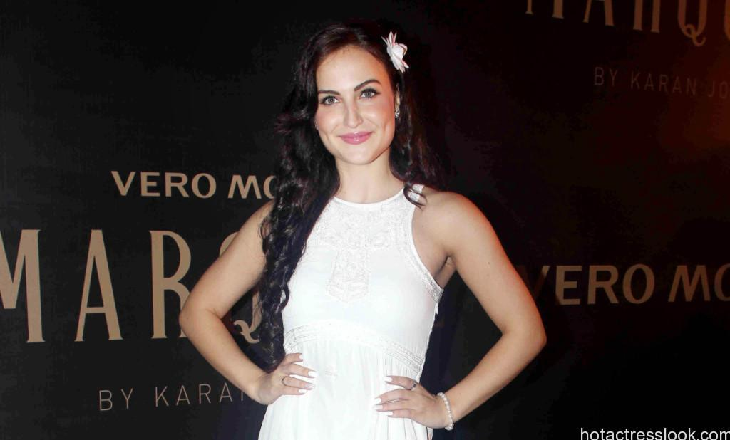 Bollywood actor Elli Avram during the unveiling of Vero Moda collection designed by Bollywood filmmaker Karan Johar in Mumbai, India on September 19, 2014. (Gautam Salvi/SOLARIS IMAGES)