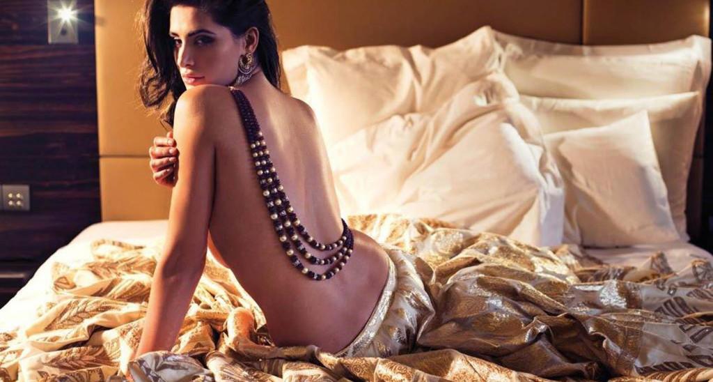 Nargis-Fakhri backless sexy pose