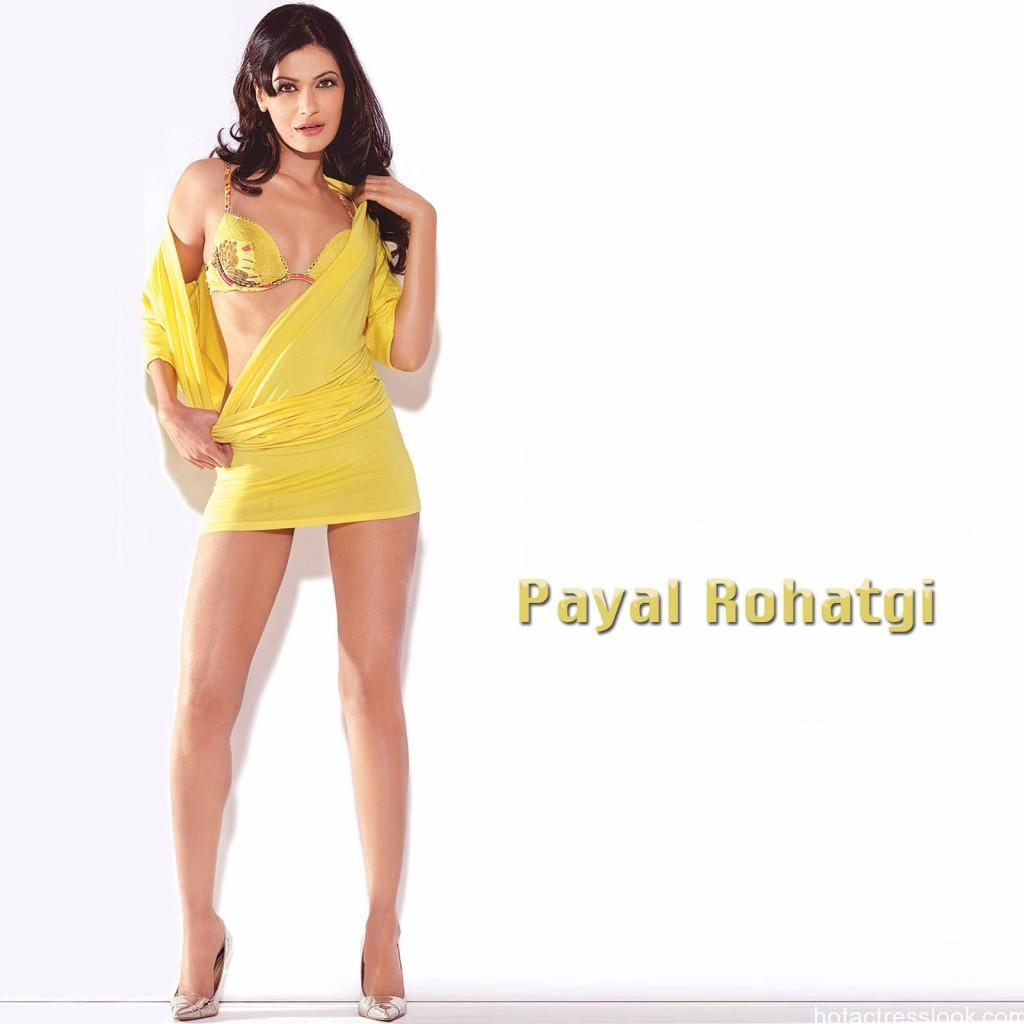 Payal_Rohatgi-sexy-yellow-dress