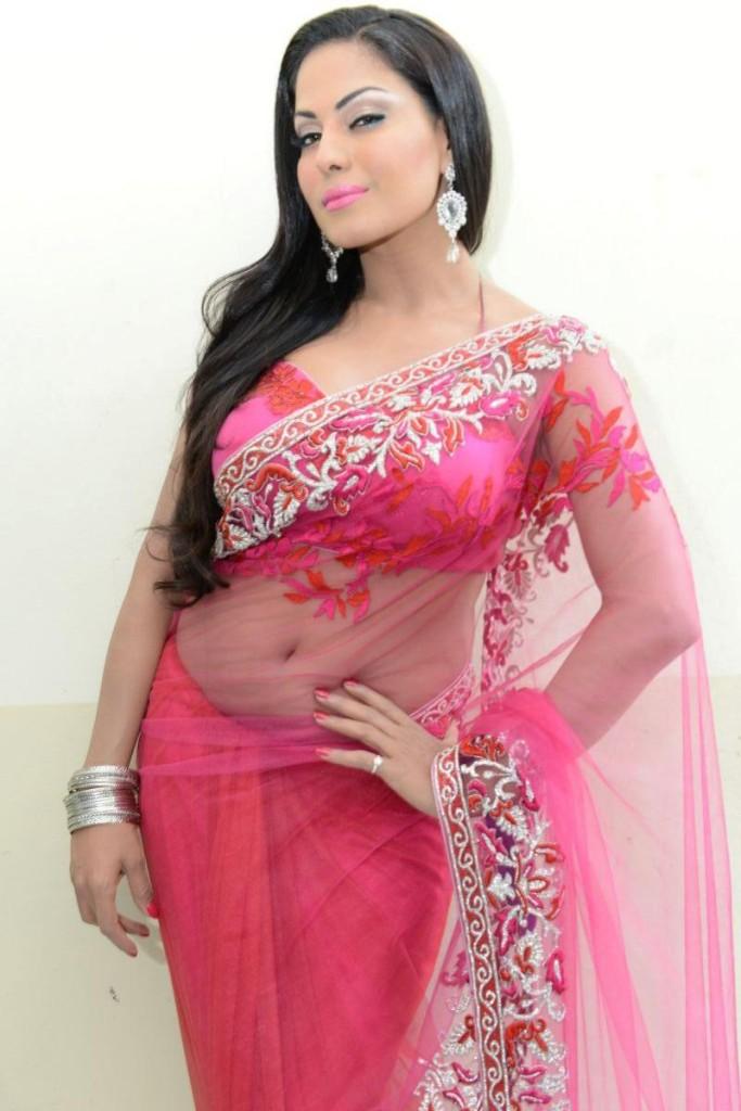 Veena Malik Sexy Saree Stills