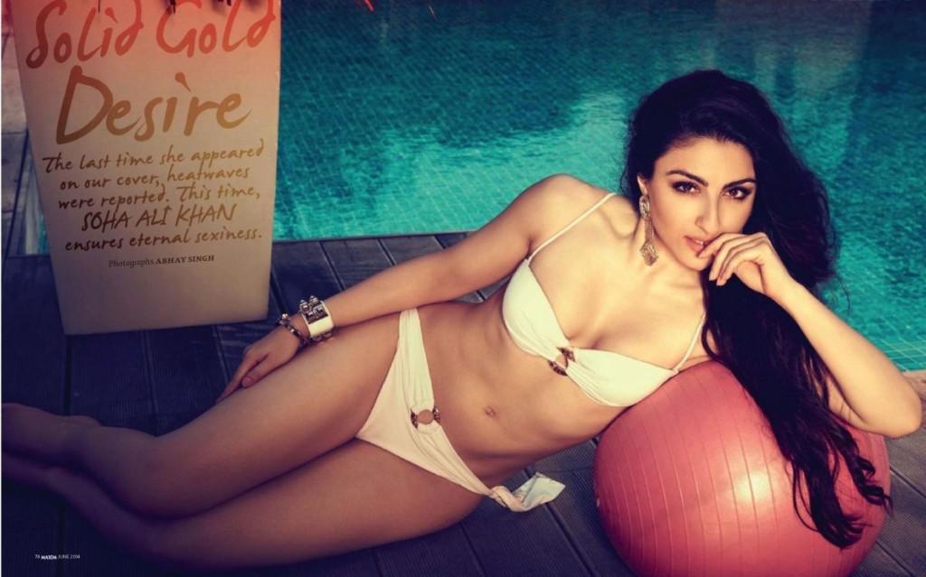 soha-ali-khan hot in bikini