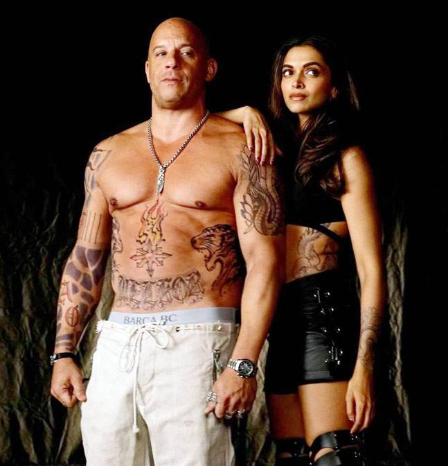 Deepika Padukone In Action Look On The Set On XXX The Return Of Xander Cage