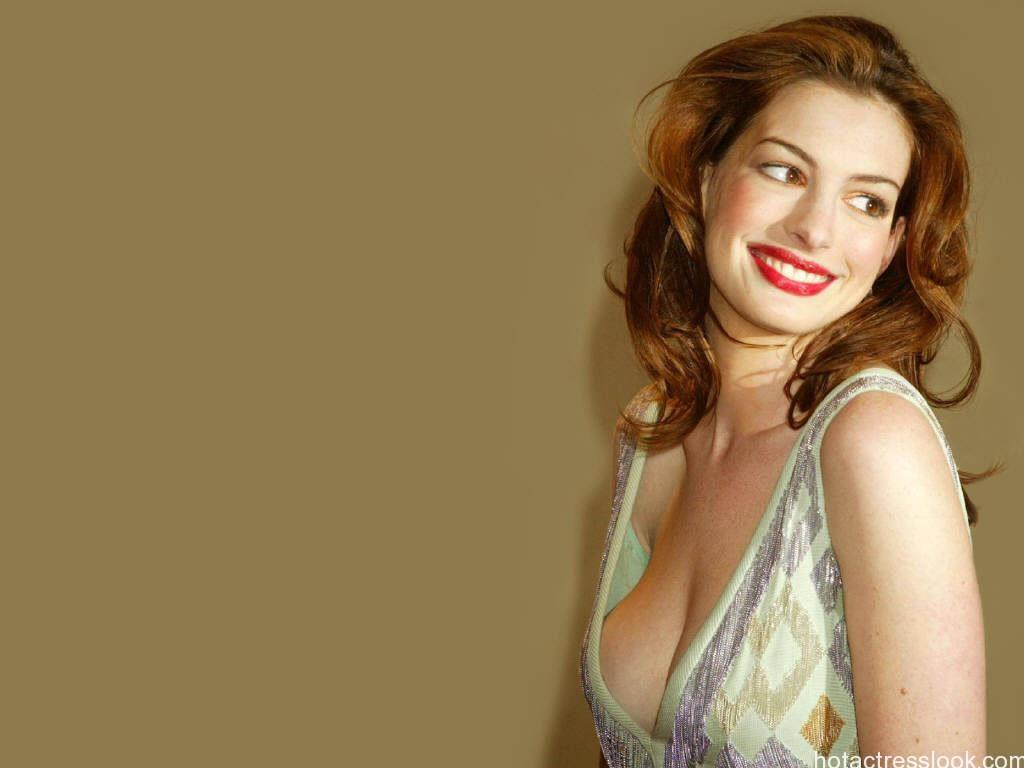 Anne Hathaway sexy wallpaper