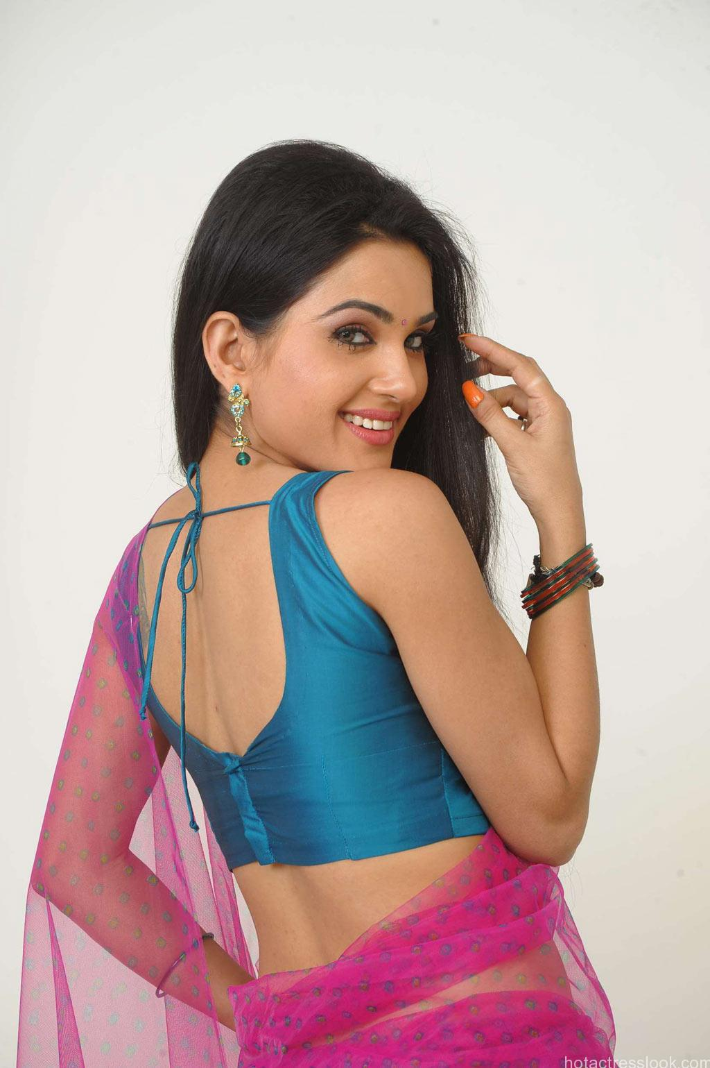 Kavya Singh Sexy backless saree