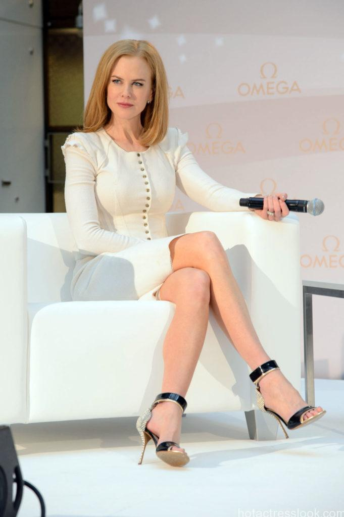 ©BAUER-GRIFFIN.COM Nicole Kidman wears a white suit as she attends a press conference for Omega watches. NON-EXCLUSIVE March 24, 2013 Job: 130324H1 Vienna, Austria www.bauergriffin.com www.bauergriffinonline.com