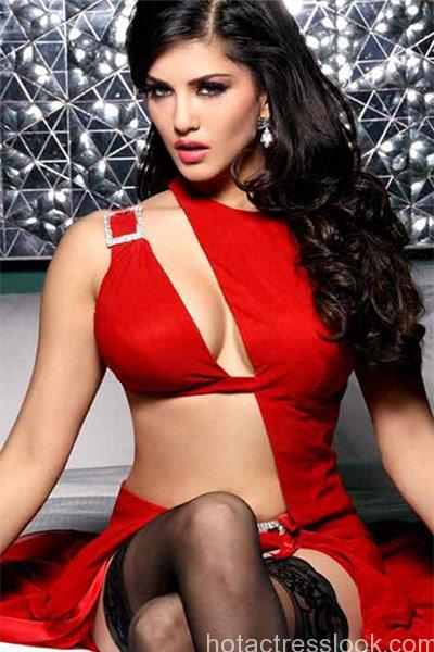 sunny-leone-poses-in-a-bold-red