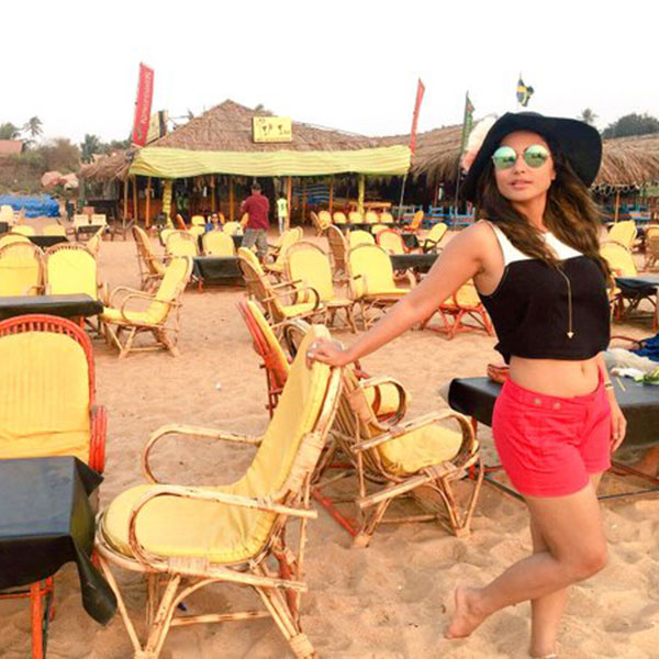 hina khan clicked in beach wear in maldives