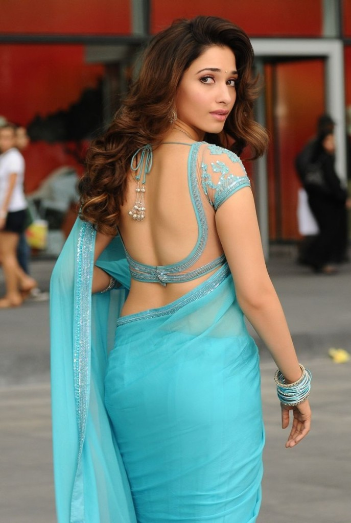 tamana hot saree pics