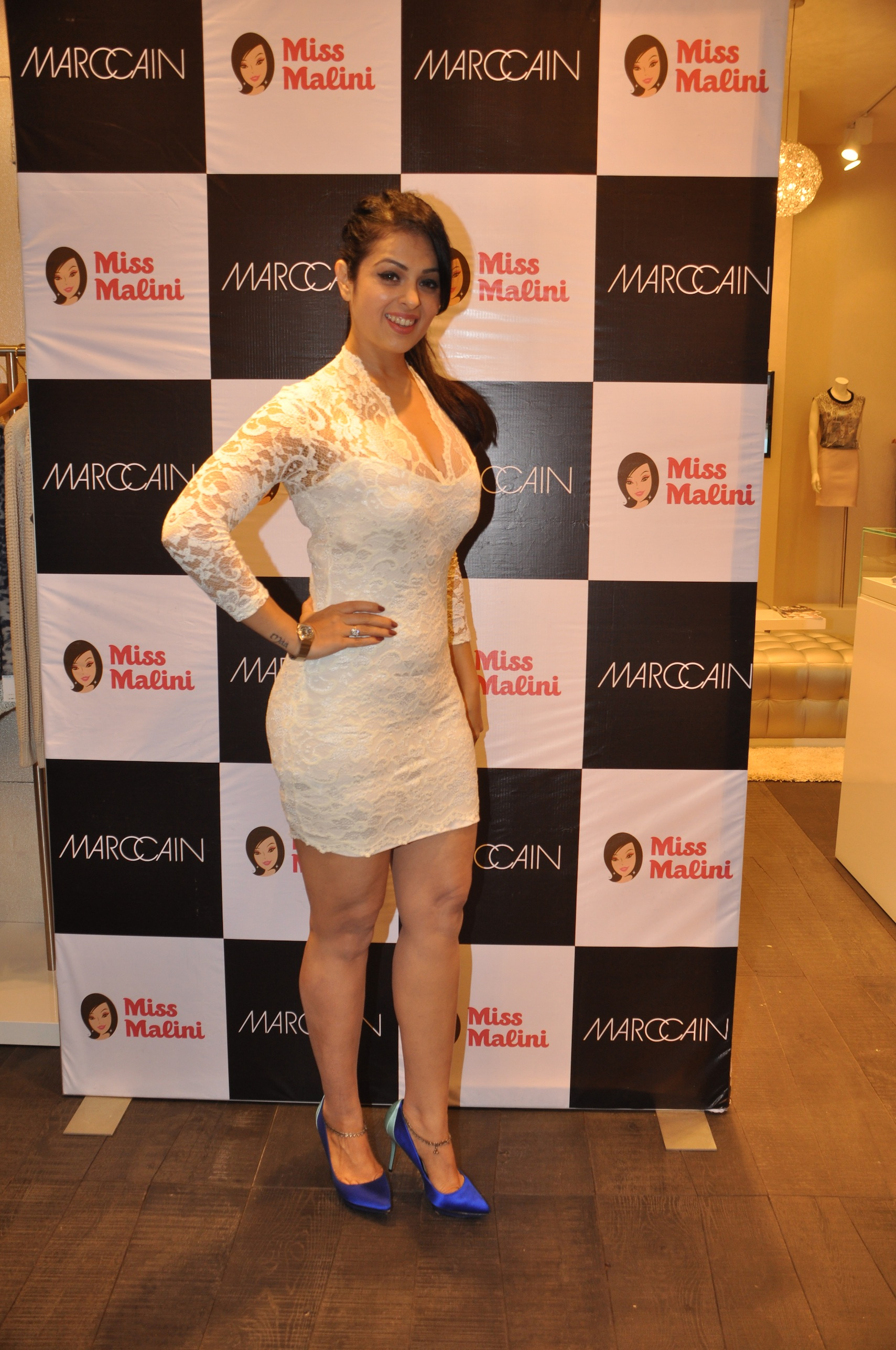 Anjana Sukhani hot in white dress