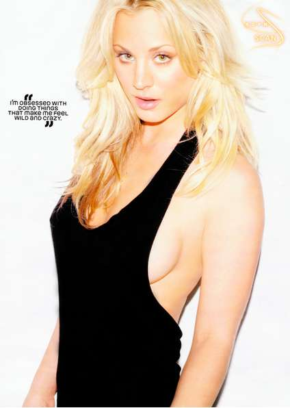 kaley cuoco hot topless