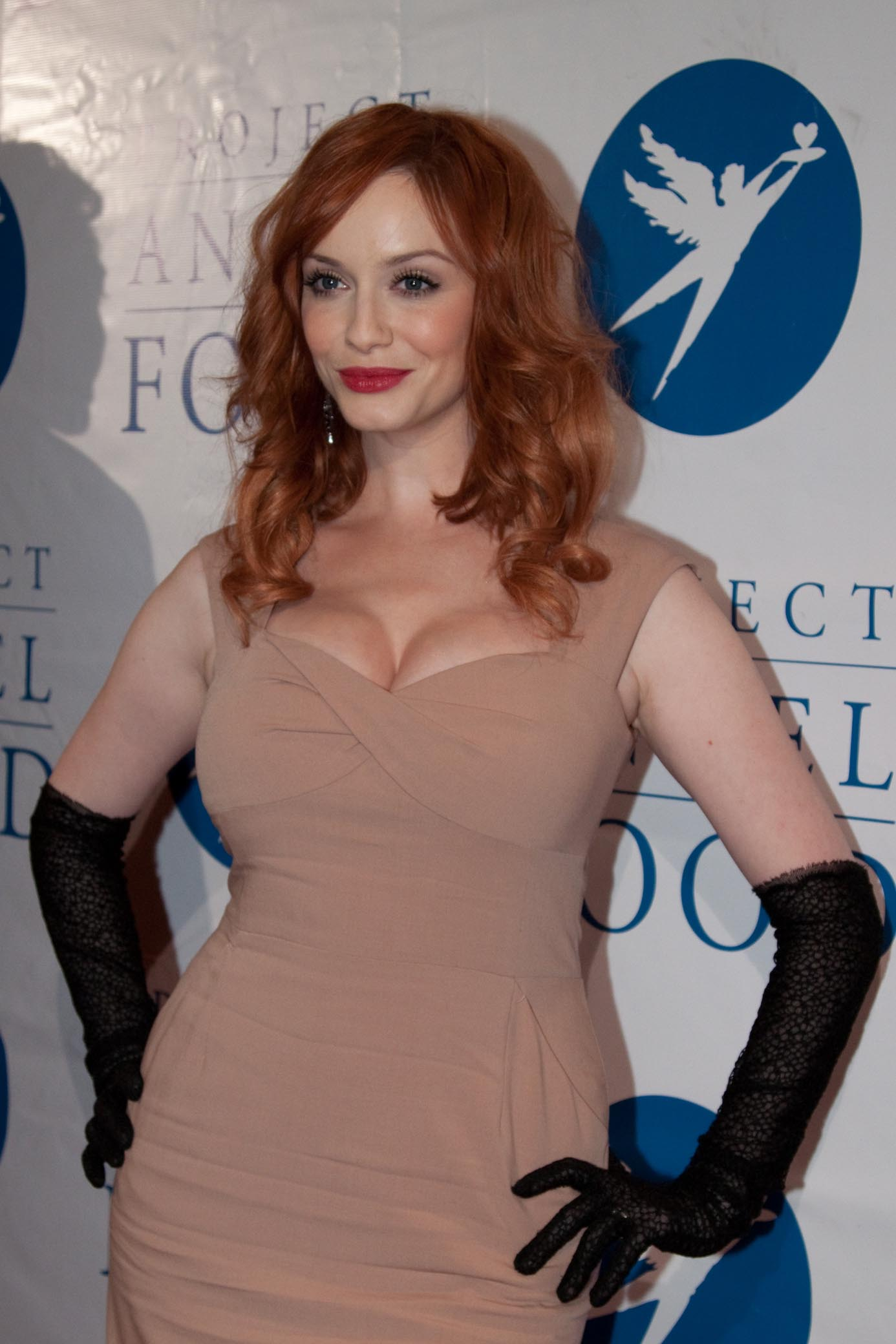 Celebrities arrive at the 17th Annual Divine Design to Benefit Project Angel Food at the Beverly Hilton on December 3, 2009. Honorees included actress Christina Hendricks (Mad Men) and Steven Kolb, Executive Director of CFDA. Pictured: Christina Hendricks Ref: SPL143246 031209 Picture by: Ratianda/London Ent/Splash News Splash News and Pictures Los Angeles:310-821-2666 New York: 212-619-2666 London: 870-934-2666 photodesk@splashnews.com
