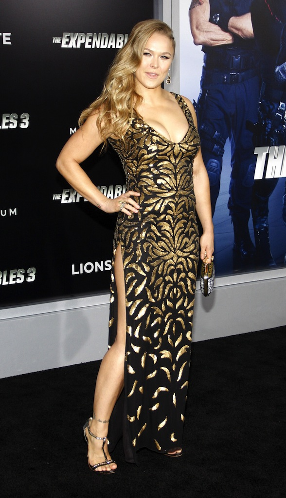 "08/11/2014 - Ronda Rousey - ""The Expendables 3"" Los Angeles Premiere - Arrivals - TCL Chinese Theatre - Hollywood, CA, USA - Keywords: Orientation: Portrait Face Count: 1 - False - Photo Credit: David Gabber / PRPhotos.com - Contact (1-866-551-7827) - Portrait Face Count: 1"