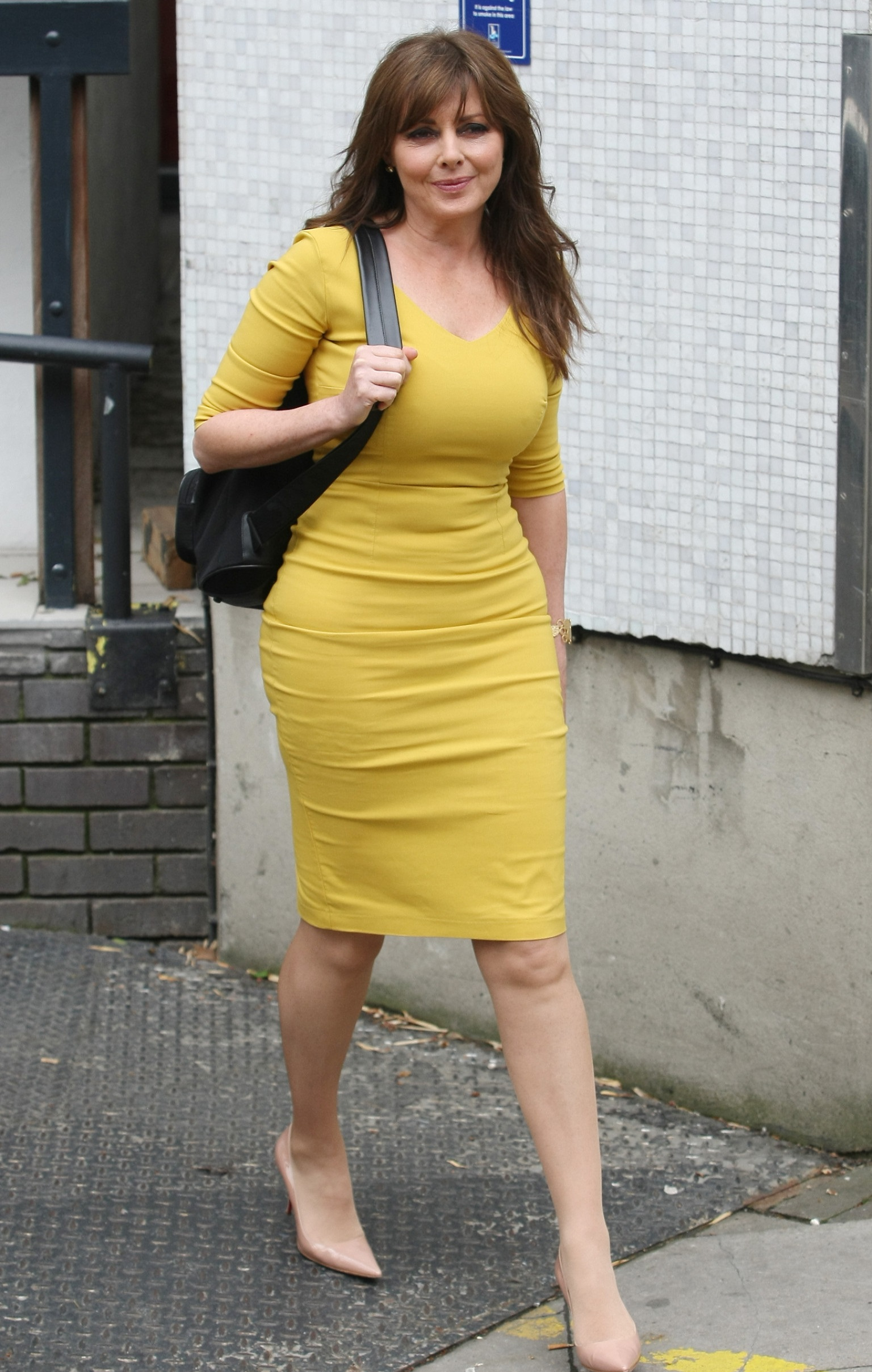 Celebrities outside the ITV Studios Featuring: Carol Vorderman Where: London, United Kingdom When: 08 May 2013 Credit: WENN.com