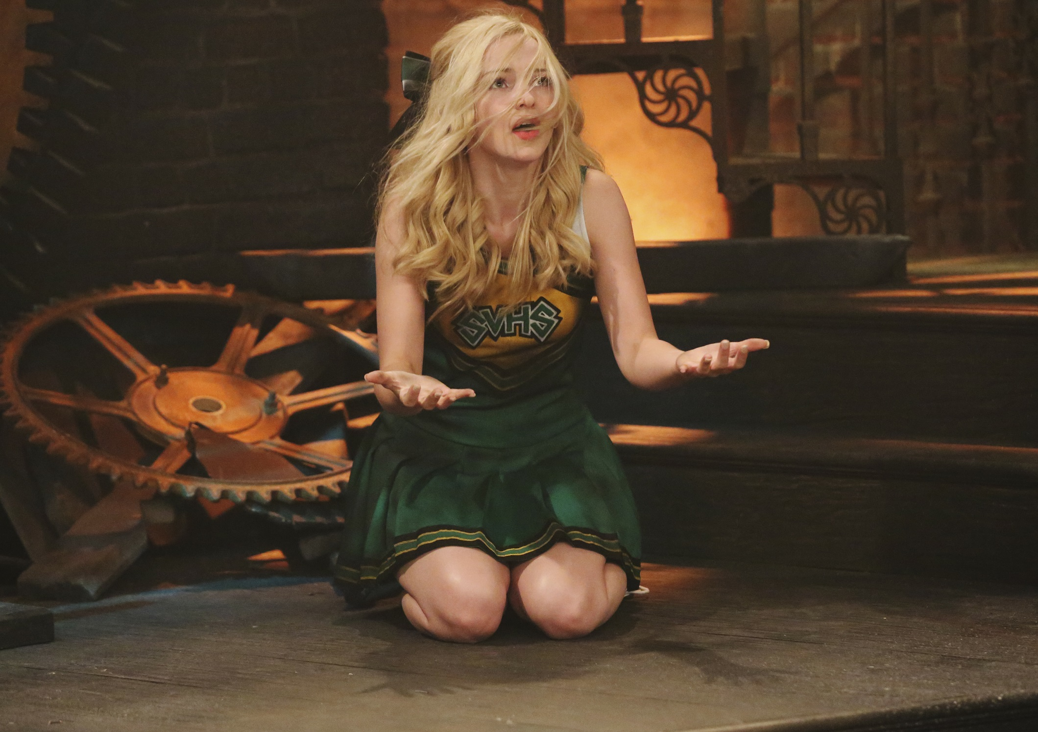 "LIV AND MADDIE - ""Voltage-A-Rooney"" - Maddie enlists Liv's help to build a giant Paulie Porcupine head for the Homecoming parade, but Joey and Parker accidentally destroy it while playing around with a stunt-prop from Liv's TV show, ""Voltage."" This episode of ""Liv and Maddie"" airs Sunday, September 13 (8:30 PM - 9:00 PM ET/PT), on Disney Channel. (Photo by Adam Taylor/Disney Channel via Getty Images)"