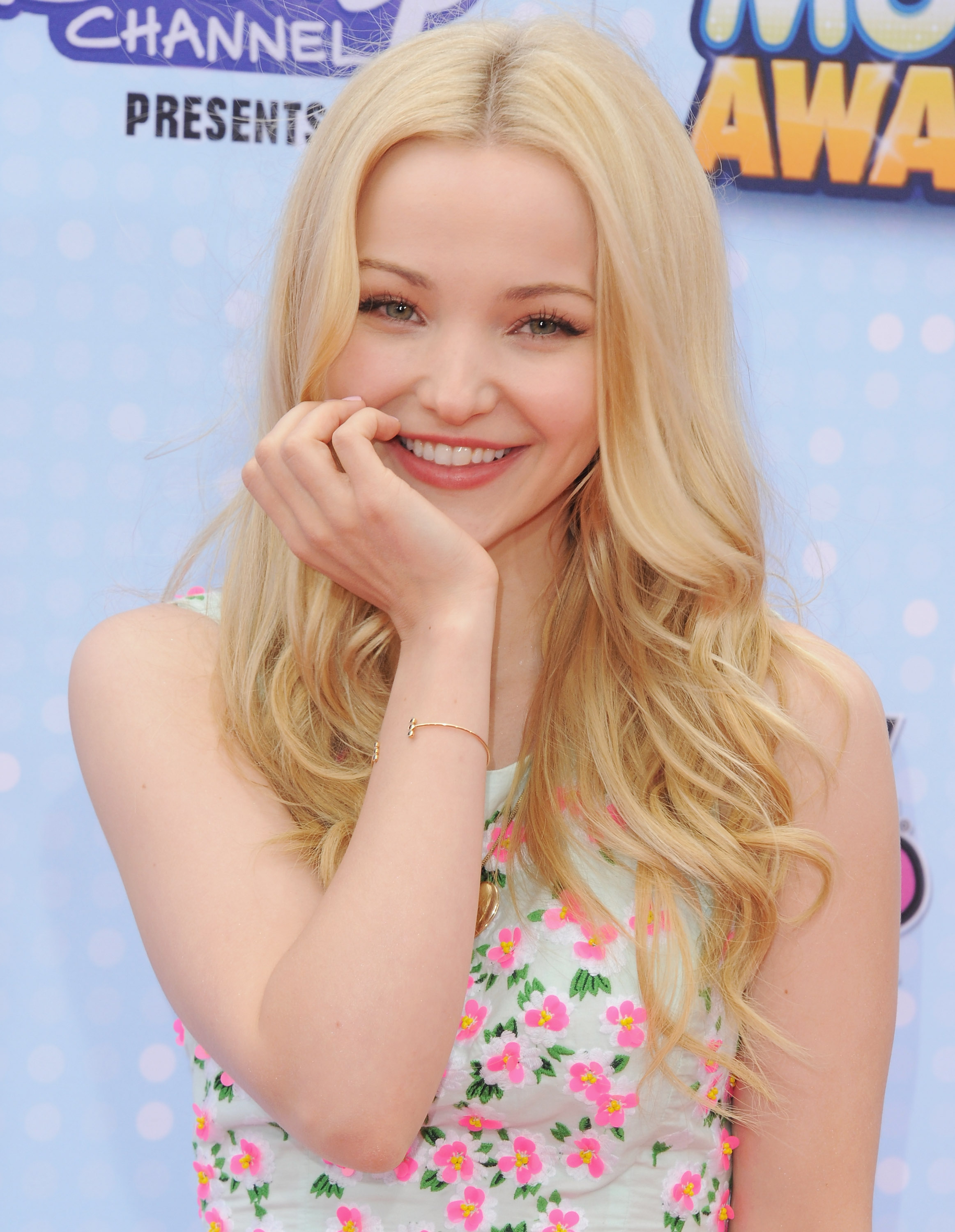 LOS ANGELES, CA - APRIL 25: Actress Dove Cameron arrives at the 2015 Radio Disney Music Awards at Nokia Theatre L.A. Live on April 25, 2015 in Los Angeles, California. (Photo by Jon Kopaloff/FilmMagic)
