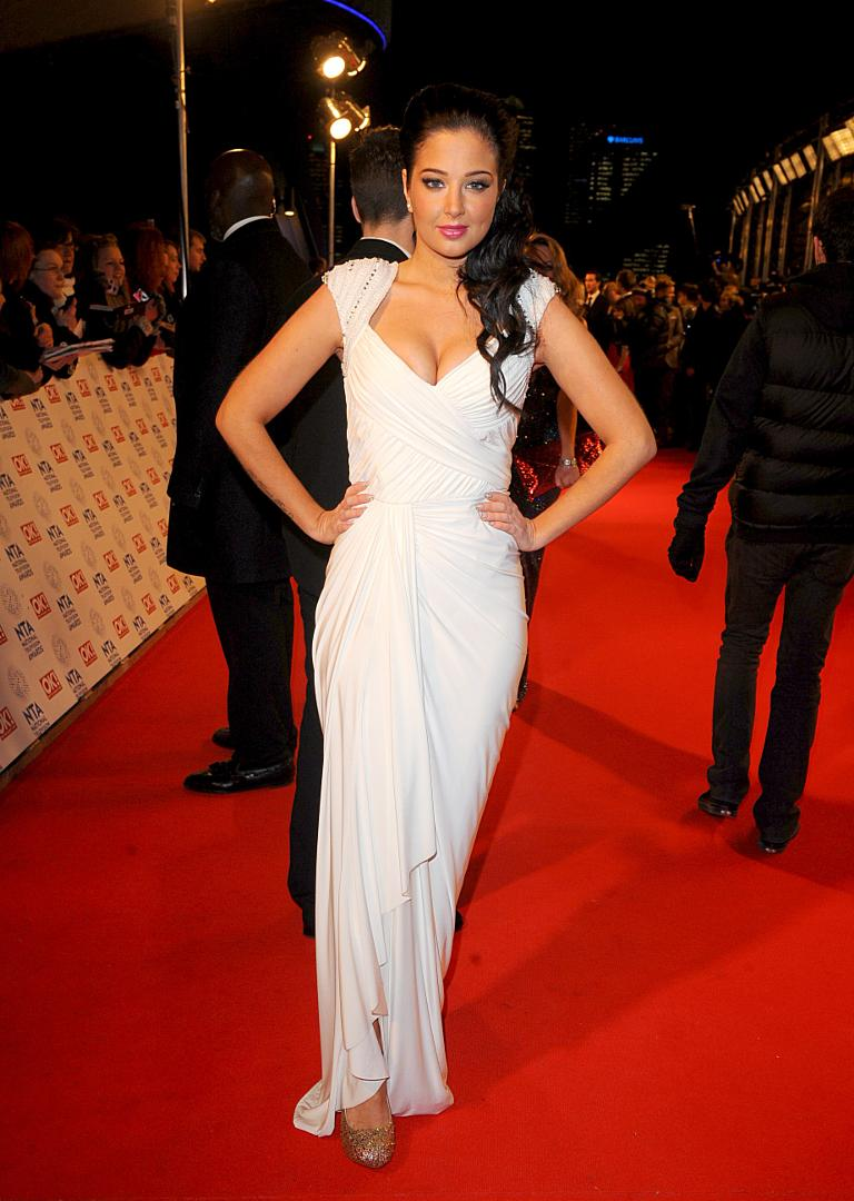 Tulisa Contostavlos arriving for the 2013 National Television Awards at the O2 Arena, London.