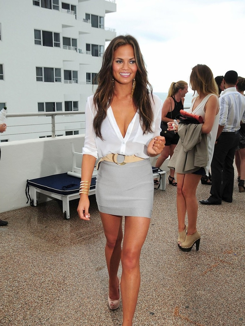 Christine Teigen Miami Swim Spring/Summer 2012 diNeila Brazil presentation at The Penthouse at The Raleigh Miami Beach, Florida - 18.07.11 Mandatory Credit: Johnny Louis/WENN.com