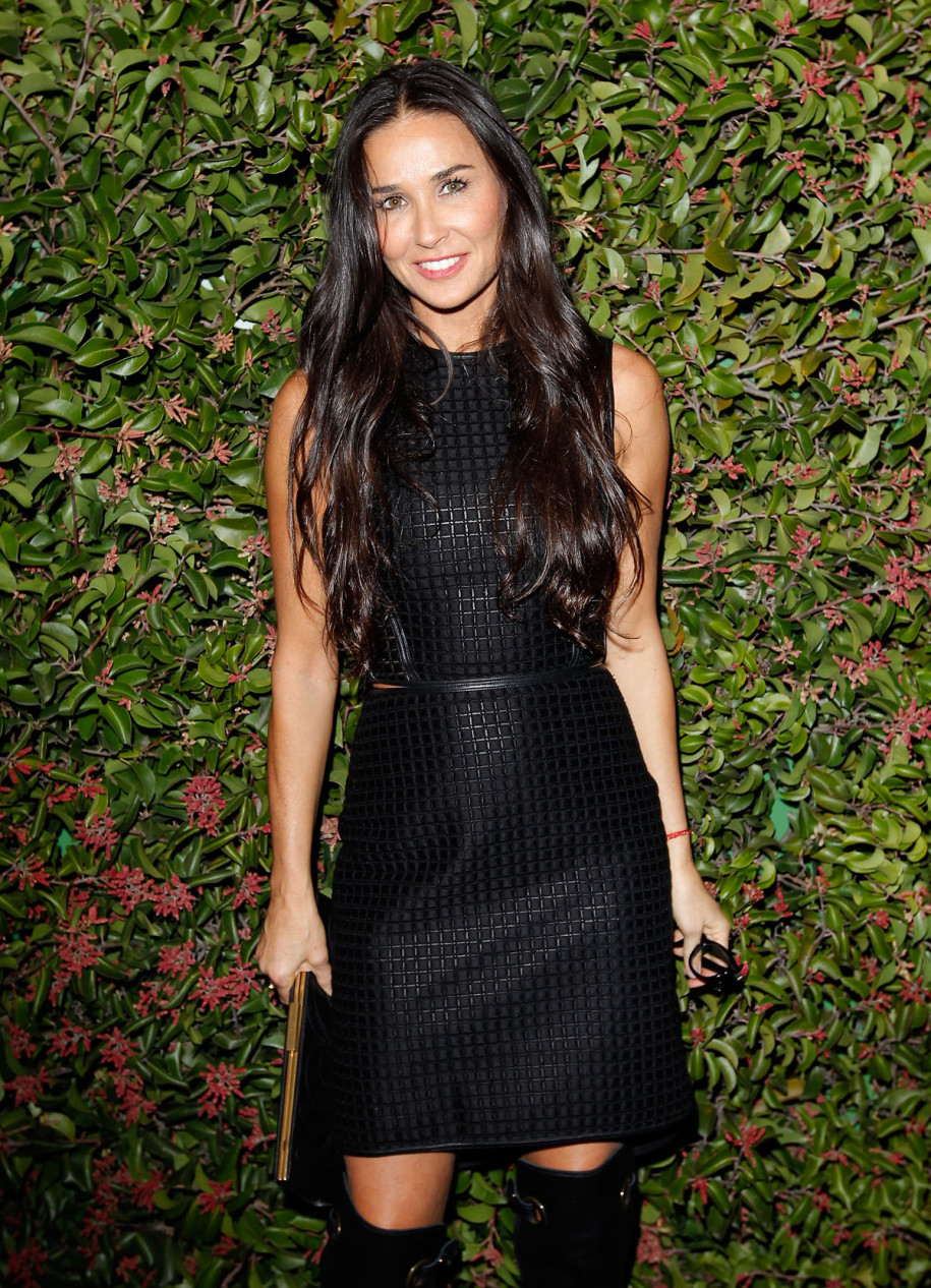 DEMI MOORE at The Ferragamo Presents Spring/Summer Runway Collection in Los Angeles