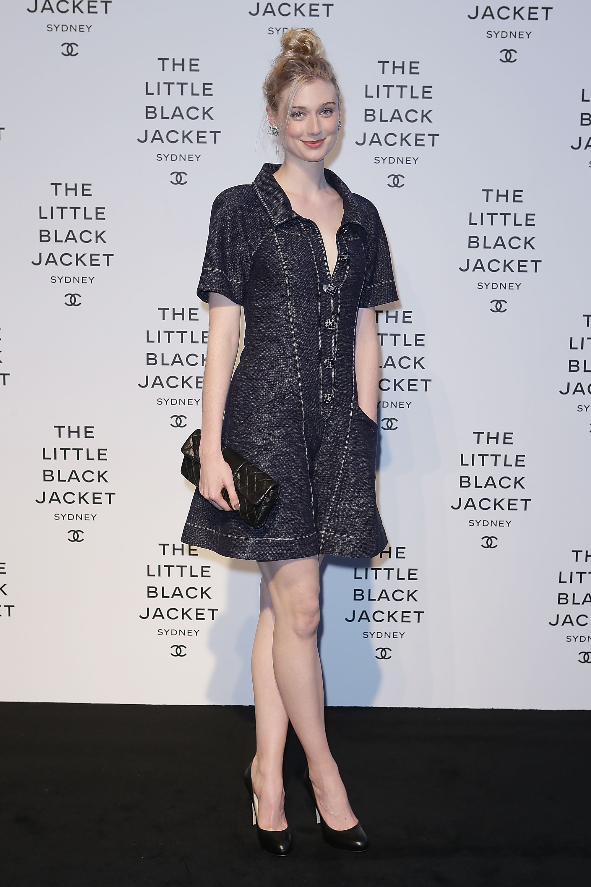 SYDNEY, AUSTRALIA - OCTOBER 25: Elizabeth Debicki attends the 'Chanel The Little Black Jacket' exhibition launch on October 25, 2012 in Sydney, Australia. The photographic exhibition is open to the public October 27 - November 11. (Photo by Brendon Thorne/Getty Images for Chanel)
