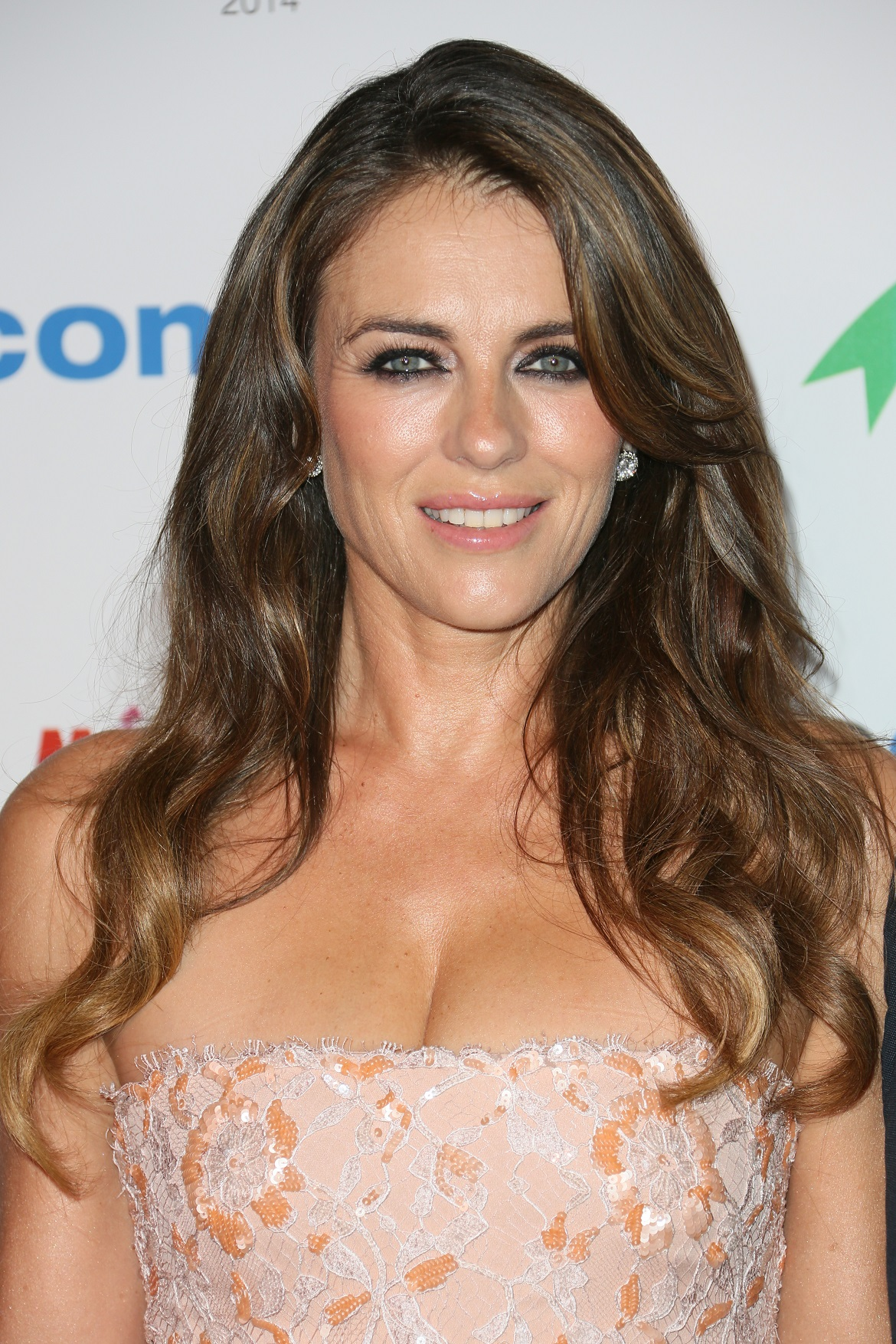 CANNES, FRANCE - OCTOBER 13: Elizabeth Hurley arrives at the MIPCOM opening Party at Hotel Martinez on October 13, 2014 in Cannes, France. (Photo by Tony Barson/FilmMagic)