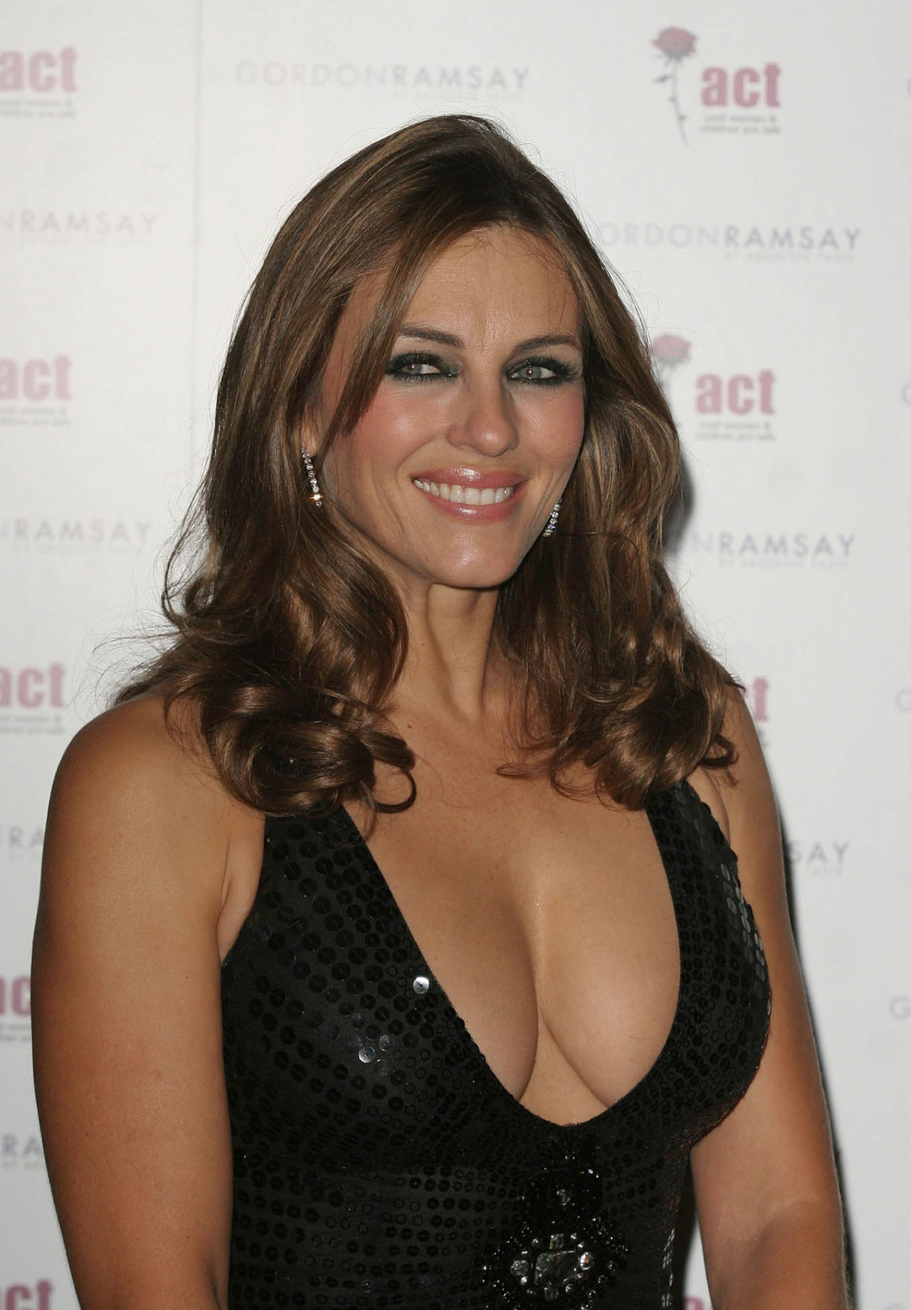 Liz Hurley Gordon And Tana Ramsay's Fundraising Dinner - Arrivals London, England - 18.09.08 Credit: (Mandatory): WENN