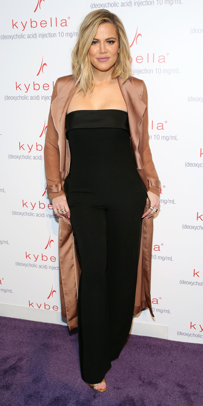 """NEW YORK, NY - MARCH 03: Khloe Kardashian attends Allergan KYBELLA event at IAC Building on March 3, 2016 in New York City. (Photo by Cindy Ord/Getty Images for Allergan)"""