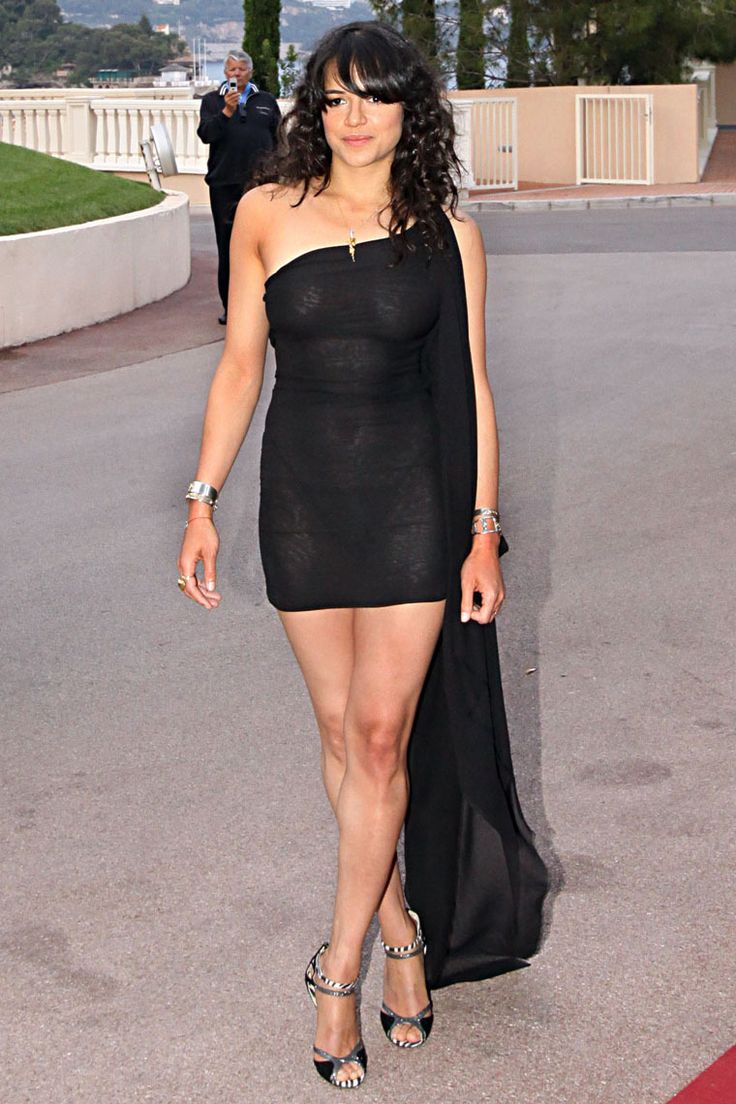 Michelle Rodriguez arrives at the World Music Awards which is being held at the Sporting Club in Monte Carlo, Monaco. Seen here in a sheer black dress, you can tell the Avatar actress is in shape and has been working out. Pictured: Michelle Rodriguez Ref: SPL181231 180510 Picture by: R Chiang / Splash News Splash News and Pictures Los Angeles: 310-821-2666 New York: 212-619-2666 London: 870-934-2666 photodesk@splashnews.com