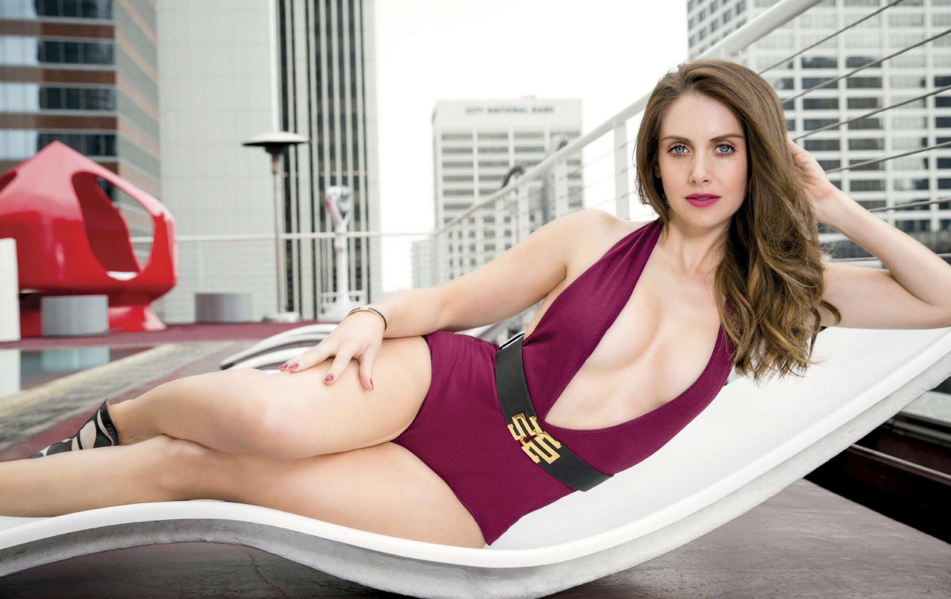 alison brie hot & sexy bikini pictures, images, videos