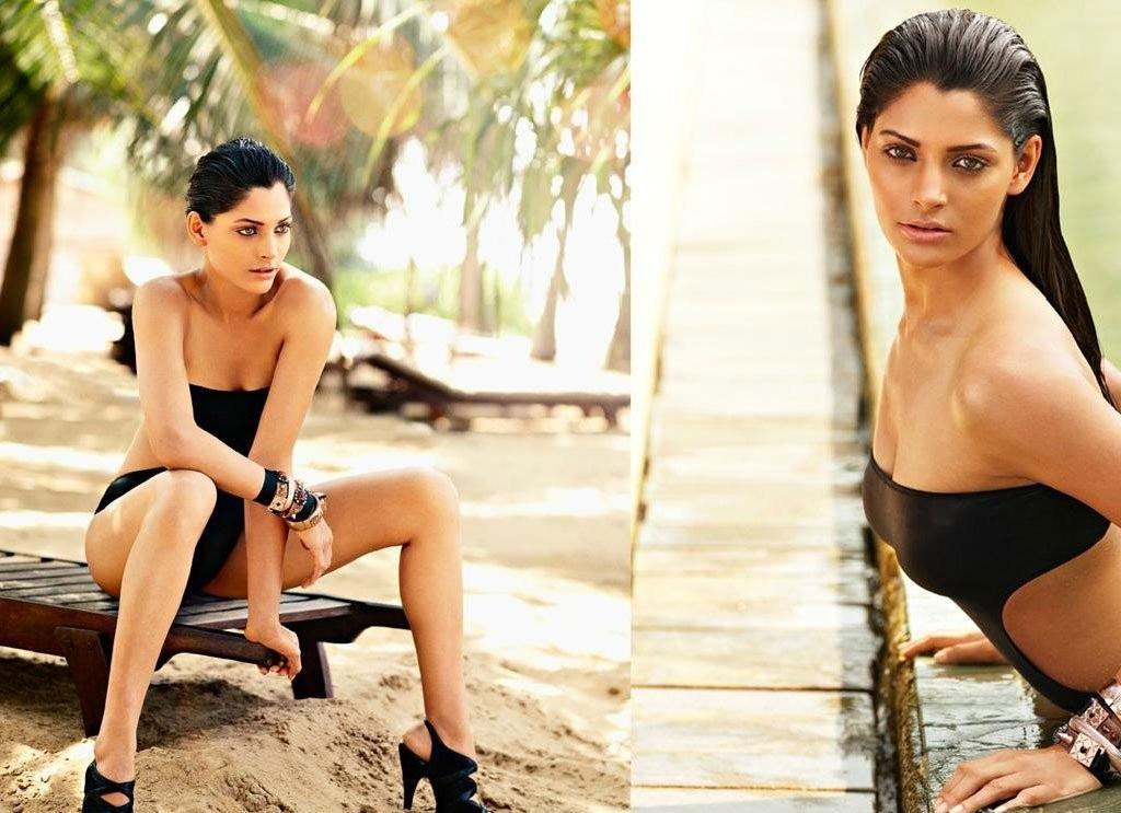 Saiyami Kher Hot Topless Images