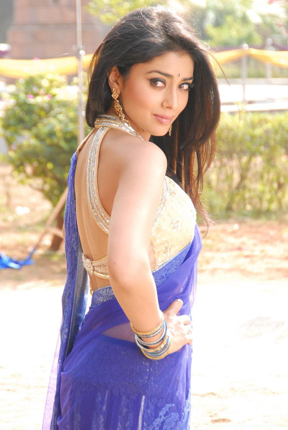 Shriya Saran Sexy in Backless Saree