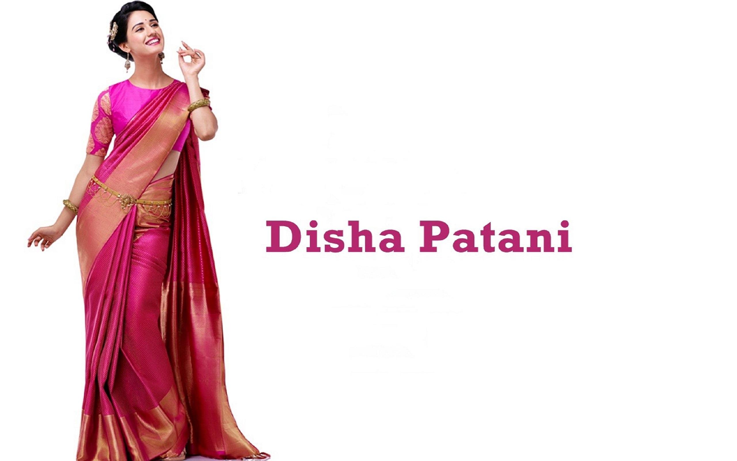 Disha Patani sexy saree stills