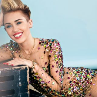 Miley Cyrus hot hd photos Red Lips HD Wallpaper
