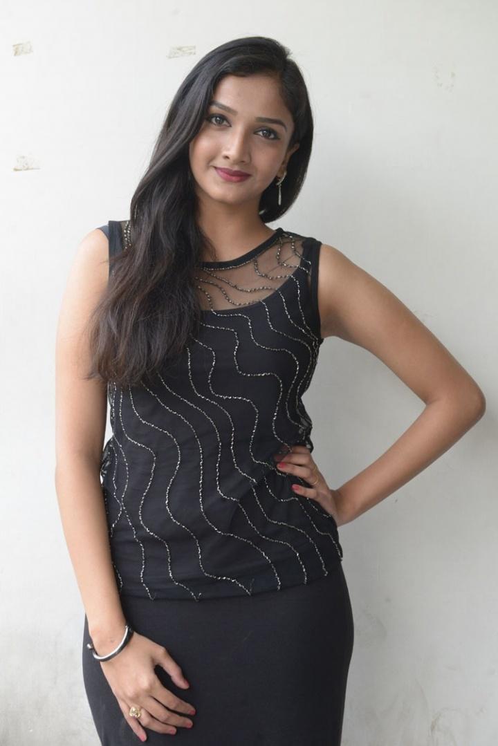 Swastika Mukherjee hot in black dress