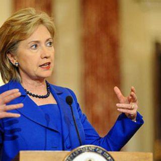 Hillary Clinton blue dress