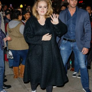 Adele Greets Fans As She Returns To Her NYC Hotel